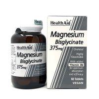 Health Aid Magnesium Bisglycinate 375mg & Vitamin