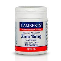 Lamberts Zinc 15mg (as Citrate) Συμπλήρωμα