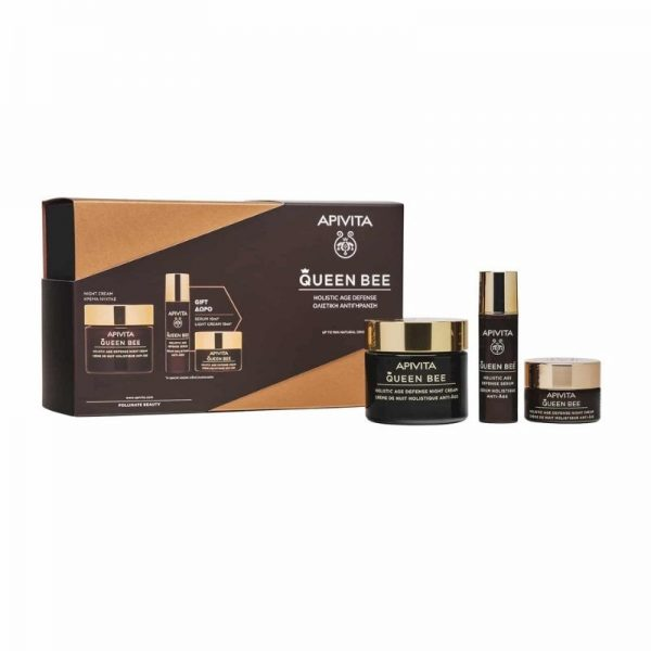 APIVITA Promo Queen Bee Κρέμα Νυχτός 50ml & Δώρο Serum 10ml & Δώρο Κρέμα Ελαφριάς Υφής 15ml